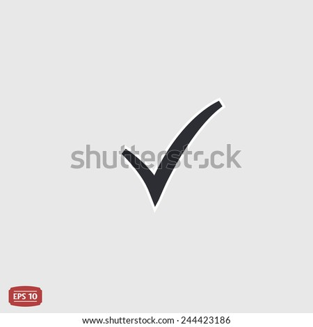 Check mark. Flat design style. Made vector illustration - stock vector