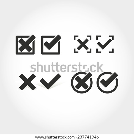 check mark icon  - stock vector