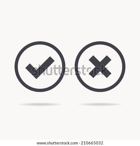 check mark icon , vector illustration - stock vector