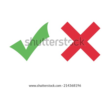 Check mark icons (flat design) - stock vector