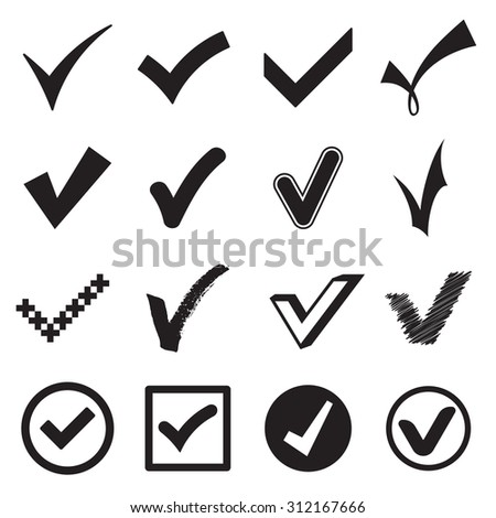 Check mark icons. Vector illustration - stock vector