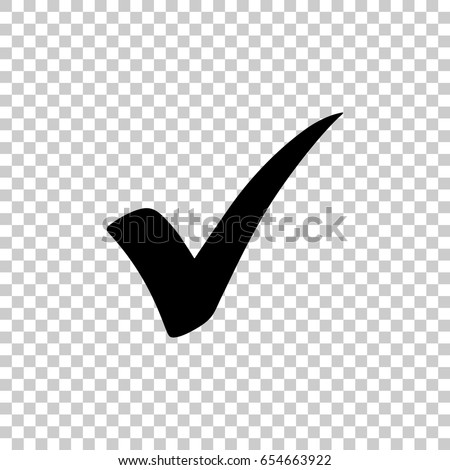 Check Mark Isolated On Transparent Background Stock Vector 654663922