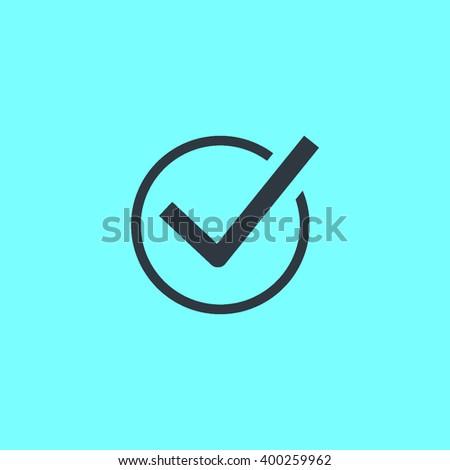 Check mark sign icon. Tick Okay Accept Valid icon button. Check confirm icon. Tick in circle sign. Ok Good Tick check list icon. - stock vector