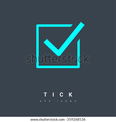 Check mark sign icon. Tick Okey Accept Valid icon button. Check confirm icon. Tick in circle sign. Ok Good Tick check list icon. - stock vector