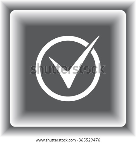 Check mark sign icon, vector illustration. Flat design style