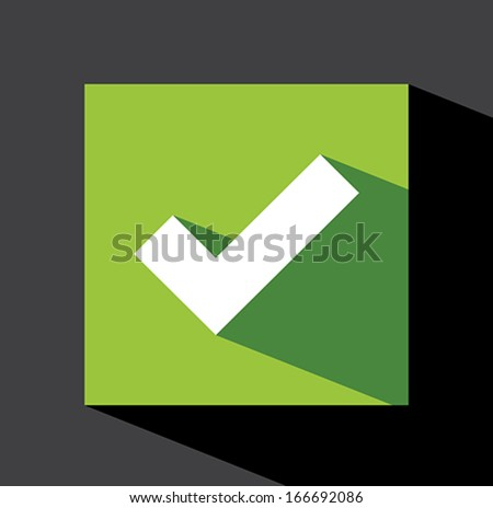 Check mark sticker - stock vector