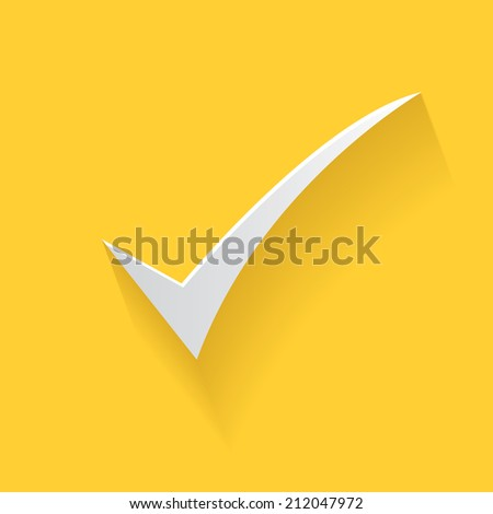 Check mark symbol,clean vector - stock vector