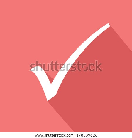 Check mark symbol,Pink version,vector - stock vector