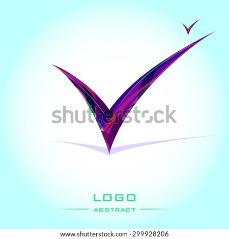check mark tick isolated vector illustration - stock vector