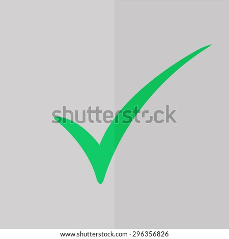 check mark vector icon. Flat design - stock vector