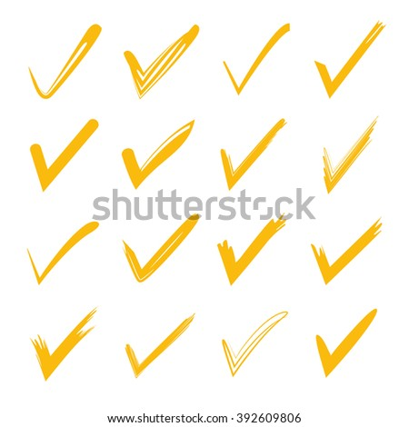 check marks, tick marks - stock vector