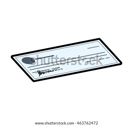 Check money financial item value icon. Isolated and flat illustration. Vector graphic