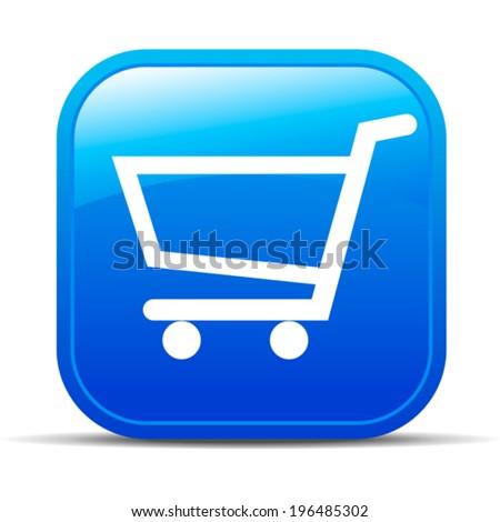 Check Out - Shopping plus Internet button Icon - stock vector