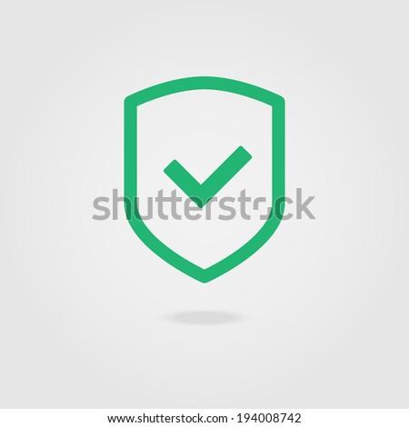 Check shield icon. - stock vector