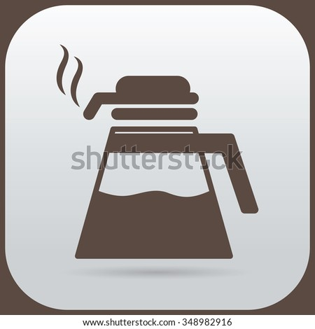 Check the water container with hot coffee. - stock vector