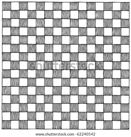 checkboard drawing - stock vector