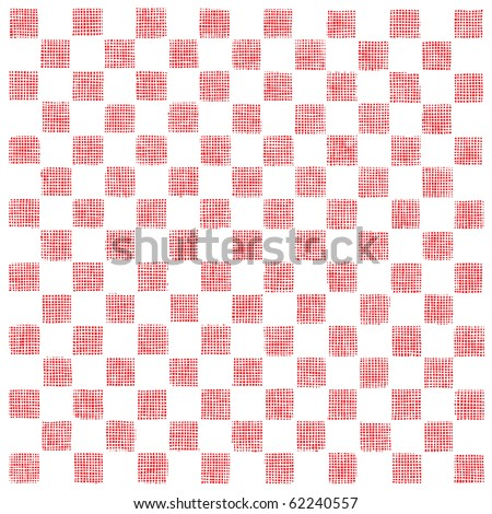 checkboard red woodcut - stock vector