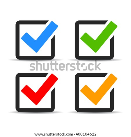 Checkbox icons set, illustration isolated on white background - stock vector