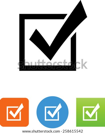 Checkbox selected symbol for download. Editable vector icons for video, mobile apps, Web sites and print projects.  - stock vector
