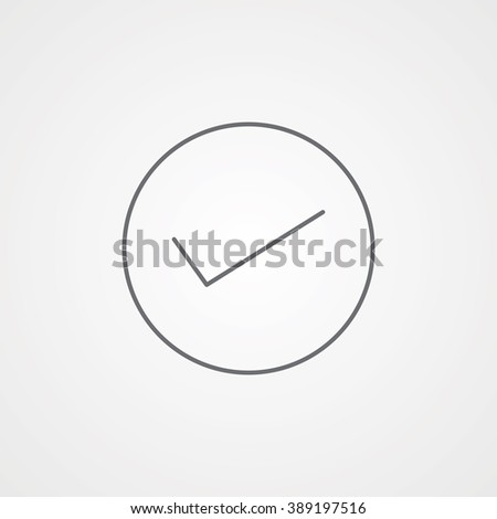 Checked Line Icon. Eps-10. - stock vector