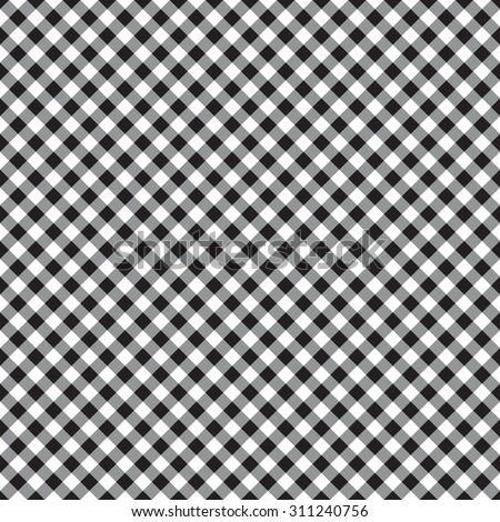 checked plaid fabric seamless pattern vector illustration - stock vector