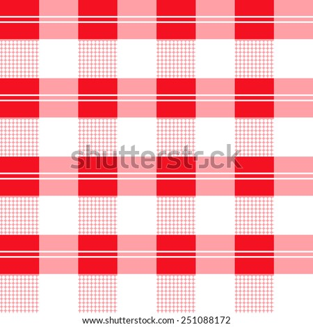 checked seamless vector pattern. Can be used for textiles, accessories; decorative paper, stationery,  wrapping etc. Swatch for seamless pattern included. - stock vector