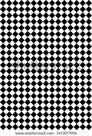 checkerboard pattern.  Seamlessly repeatable vector pattern. Checkered (chequered) background with tilted squares. - stock vector
