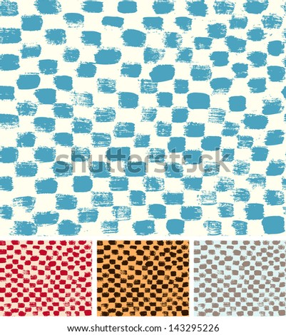 Checkerboard Seamless Pattern - stock vector