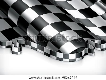 Checkered Background, vector - stock vector