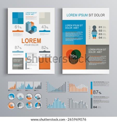 Classic Brochure Template Design Blue Green Stock Vector 332234846