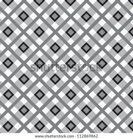 Checkered cotton fabric seamless pattern - stock vector