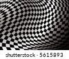 checkered flag abstract background in black and white with a gradient - stock photo