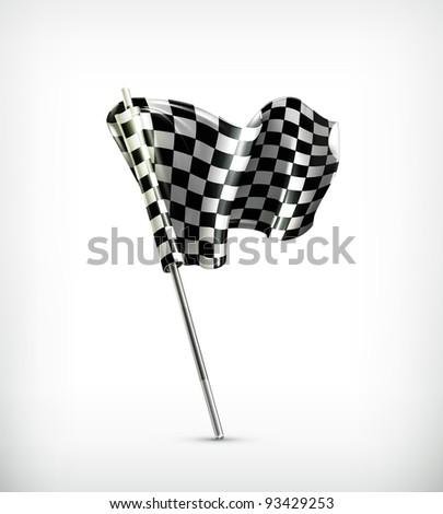 Checkered flag 10eps - stock vector