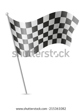 checkered flag for car racing vector illustration isolated on white background - stock vector