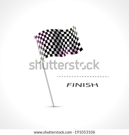 Checkered flag, Race Flag, finish, start formula one, motocross, truck, pursuit icon isolated. Finish flag icon. Finish flag design. Finishing flag template. Finish flag eps. Finish flag vector - stock vector