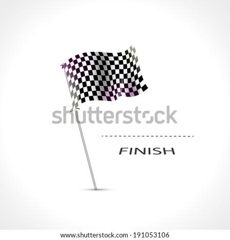 Checkered flag, Race Flag, finish, start formula one, motocross, truck, pursuit icon isolated. Finish flag icon. Finish flag design. Finishing flag template. Finish flag eps. Finish flag vector - stock vector