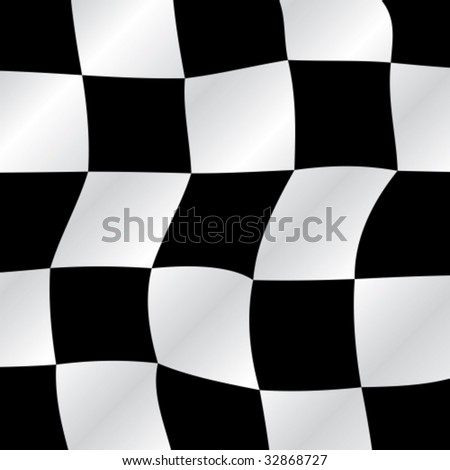 Checkered flag waving background, vector illustration