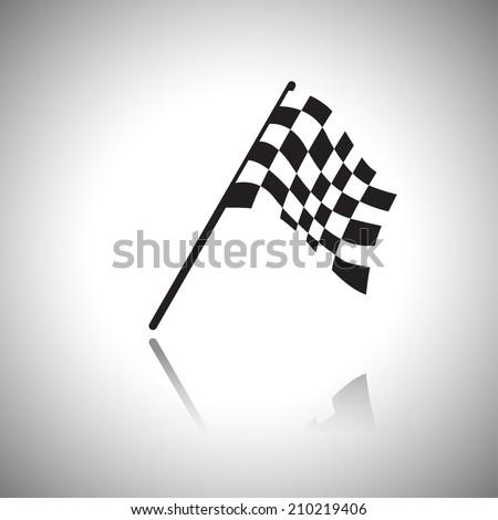 Checkered Flags .vector - stock vector