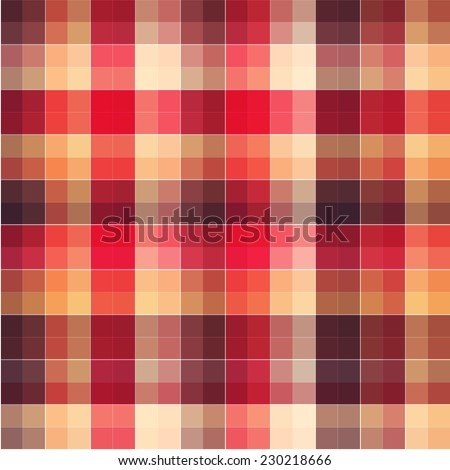 Checkered seamless pattern. Multicolor abstract background. Colorful fashion design. Bright plaid texture in square.  - stock vector