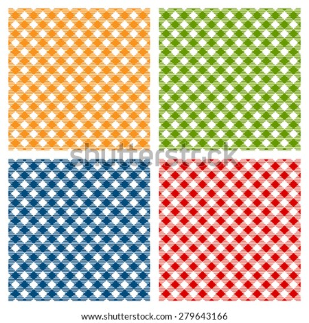 Checkered tablecloth seamless pattern, diagonal