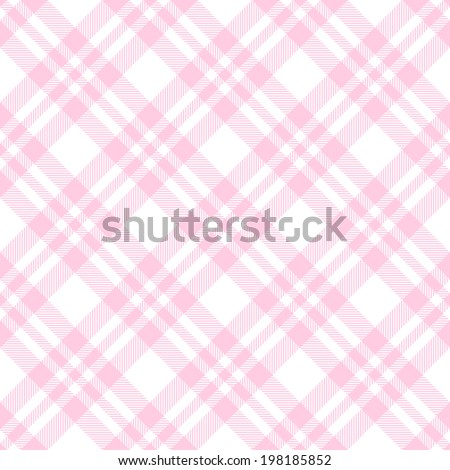 Checkered tablecloths pattern endlessly - pink - stock vector