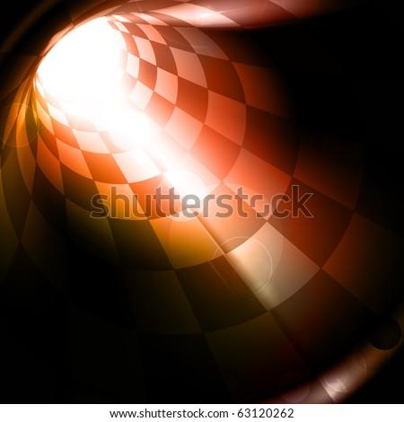 Checkered tunnel, eps10 - stock vector