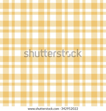 checkered yellow seamless tablecloth pattern - stock vector