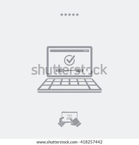 Checking usb connect icon - stock vector