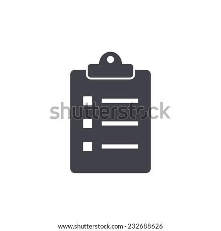 checklist icon - stock vector