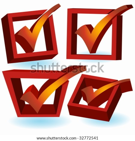checklist icon set - stock vector