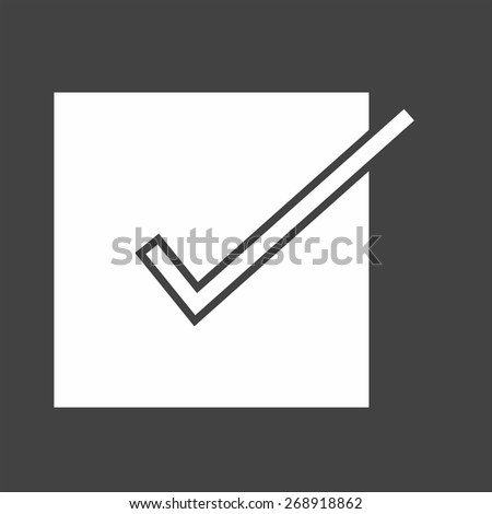 Checklist, tick mark, document icon vector image. Can also be used for eCommerce, shopping, business. Suitable for web apps, mobile apps and print media. - stock vector