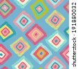 Cheerful geometrical seamless pattern. All objects are conveniently grouped and are easily editable. - stock