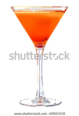 cheerful summer cocktail - stock vector