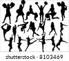 cheering squad - stock vector